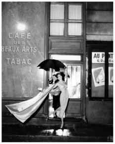 richard avedon suzy parker dress by balmain cafe des beaux-arts august 1956