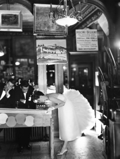 richard avedon suzy parker with robin tattersall and gardner mckay evening dress by lanvin-castillo cafe des beaux-arts august 1956