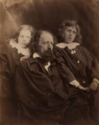 Julia_Margaret_Cameron_oenf_57_Julia Margaret Cameron - Alfred Lord Tennyson and his sons Hallam and Lionel, ca. 1862