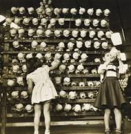 Arthur Leipzig (American, b. 1918) Doll Factory, 1949