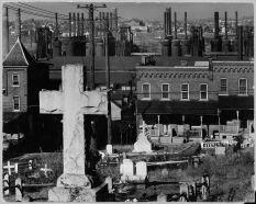 Bethlehem graveyard and steel mill Pennsylvania Walker Evans