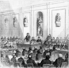 François Arago anunció el descubrimiento de Louis Daguerre, en una sesión pública de la Academia de Ciencias, ejemplo caprichoso de la reunión del 19 de agosto de 1893, publicado en el libro de Louis Higuera, The Potographie de 1869