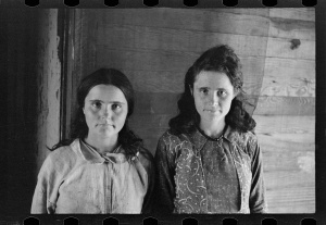 Elizabeth and Dora Mae Tengle, Hale County, Alabama walker evans
