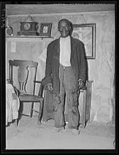 John Vachon. John Dyson old FSA Farm Security Administration borrower He was born into slavery over eighty years ago Saint Marys County Maryland