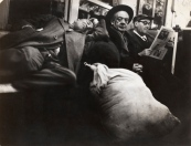 Larry Silver (American, b. 1934) Homeless Man on Subway, NYC, 1950