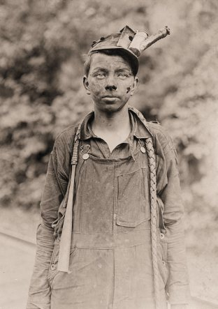 Miners- A young driver in the Brown Mine