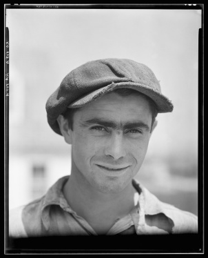 Westmoreland project Pennsylvania Westmoreland County. Construction worker on the Westmoreland subsistence homestead project Walker Evans