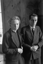 1945 Irène and Frédéric Joliot-Curie, Paris hcb Henri Cartier-Bresson