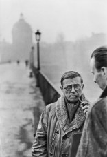 1946 Jean-Paul Sartre, París. Henri Cartier Bresson