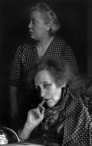 1952 Colette with her companion Pauline, Paris Henri Cartier-Bresson