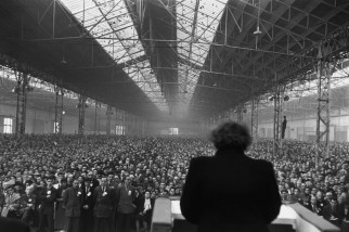 1953 Political meeting, Parc des Expositions, Paris Henri Cartier-Bresson