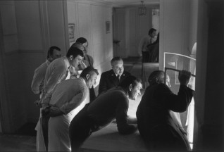 1981 Staff of the Élysée Palace Watching the Inauguration of President François Mitterrand, Paris Henri Cartier-Bresson