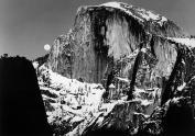 Ansel-Adams-Half-Dome-and-Moon,-Yosemite-Valley,-CA-circa-1950-painting-artwork-print