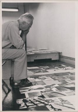 Edward Steiche, curador de fotografía del MoMA. 1955