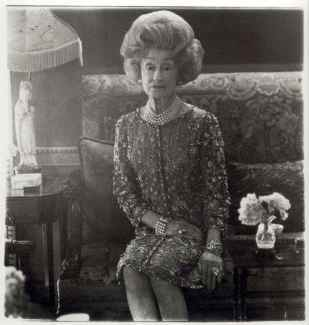 Mrs. T. Charlton Henry on a couch in her chesnut Hill home, Philidelphia, Pa. 1965 Diane Arbus