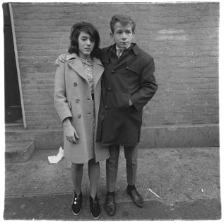 Teenage couple on Hudson Street, N.Y.C 1963 Diane Arbus