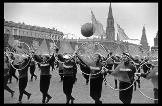USSR. Moscow. 1957. Parade in Red Square for the 40th anniversary of the Bolshevik Revolution.b. Elliott Erwitt