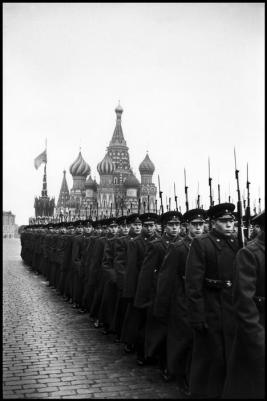 USSR. Moscow. 1957. Parade in Red Square for the 40th anniversary of the Bolshevik Revolution.Elliott Erwitt