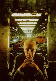 Arnold Newman. El industrial Alfried Krupp, Essen, Alemania, 6 de julio de 1963. Toma a color.