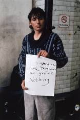 'I signed on and they would not give me nothing' 1992-3 by Gillian Wearing OBE born 1963