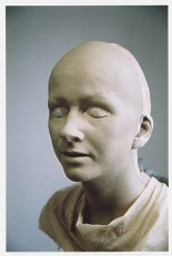 Sculpture of the artist's sister's face