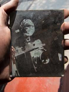 """""""Mi primer daguerrotipo"""". Daguerrotipo con el método Becquerel. Óscar Colorado (18-MAY-2013)"""