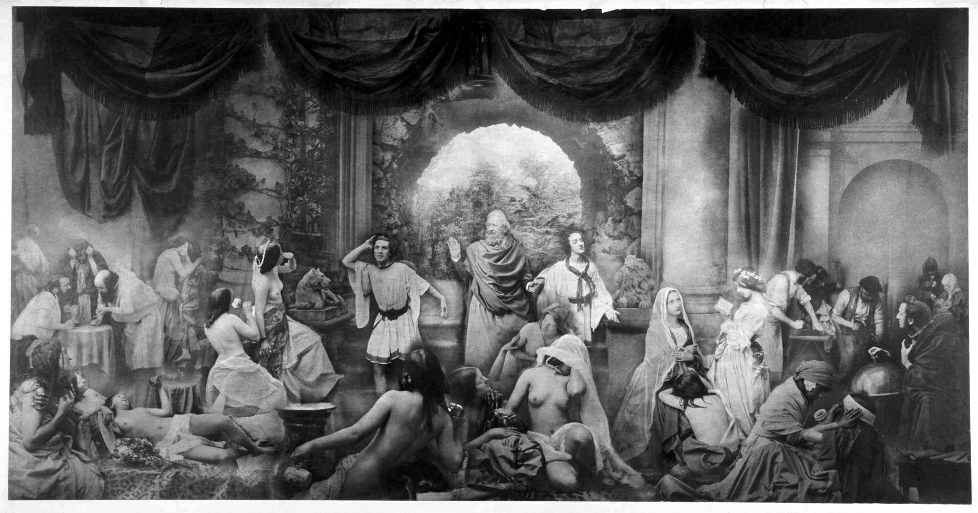 """Oscar Gustav Rejlander, Los dos caminos de la vida """"(1857)"""