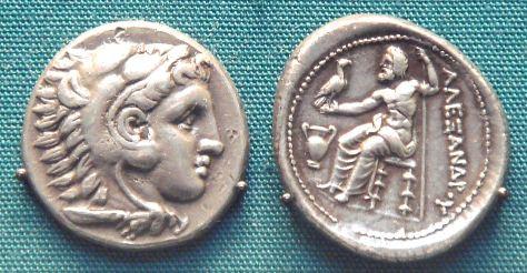 Moneda con el retrato de Alejandro Magno, ca. 297 a.C.