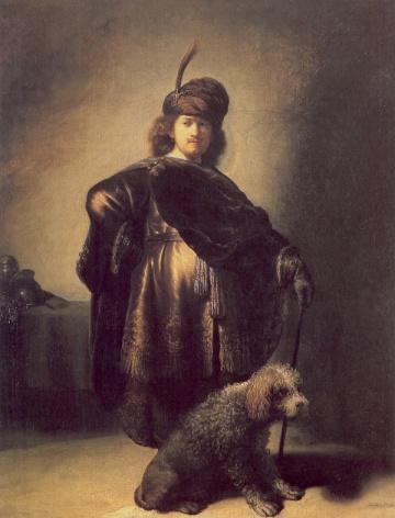 Autorretrato con atuendo oriental. Rembrandt.  1631