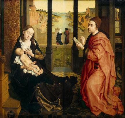 San Lucas retratrando a la Virgen. Rogier van der Weyden. ca. 1435-1440.