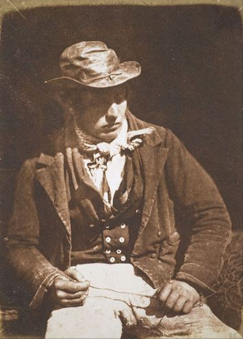 David Octavius Hill and Robert Adamson. Redding the Line(portrait of James Linton) 1846. Calotype.b