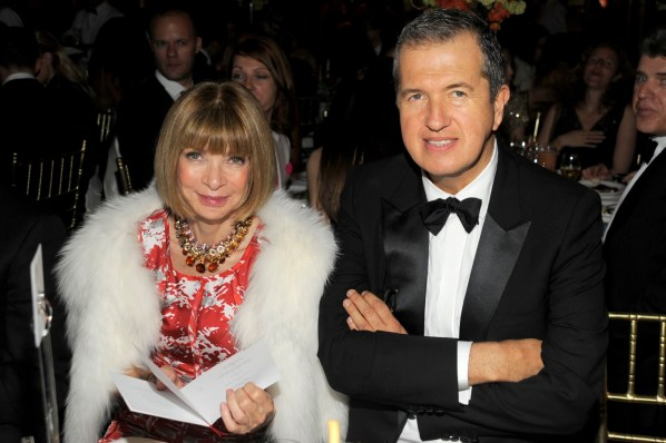 Anna Wintour y Mario Testino