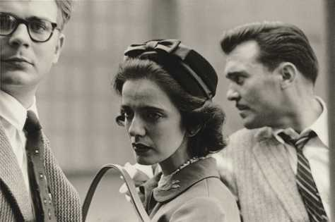 A Woman on the Street with Two Men, N.Y.C., 1956