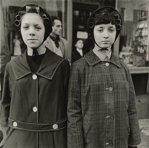Two Girls in Curlers, N.Y.C., 1963