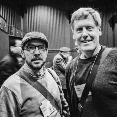 con Steve Sasson (der.). Rochester, NY. 11 de octubre, 2014