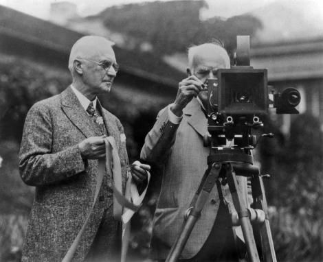 Eastman con Thomas Alva Edison