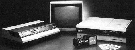 Kodak Still Video System con grabador multidisco, cámara CCD e impresora.