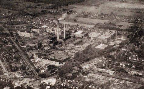 Vista aérea del Kodak Park en Rochester, N.Y.