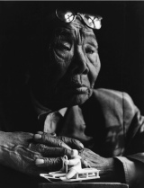 Dmitry_Dimitri_Dmitri_Baltermans__Bone_Carver_From_Chukotka_Encounters_Series_1972_bw