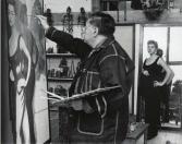 Héctor García. Diego Rivera retratando a Silvia Pinal en San Ángel (Ciudad de México, 1956)