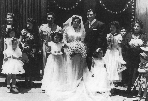 Fotógrafo no identificado. Boda de Héctor y María García (Ciudad de México, 1954)