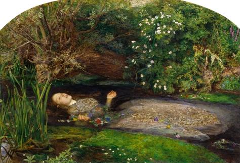 John Everett Millais. Ofelia (1852)