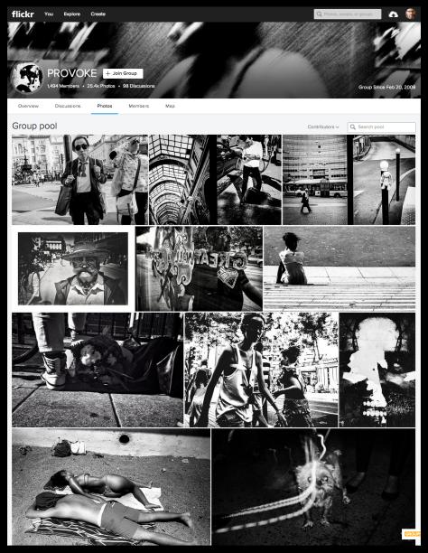 El grupo que homenajea a Provoke en Flickr.