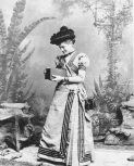 Miss Kitty Kramer, the first Kodak girl, is shown using the No. 2 Kodak Camera in 1890, in Rochester, New York. (AP Photo/Eastman Kodak Company)
