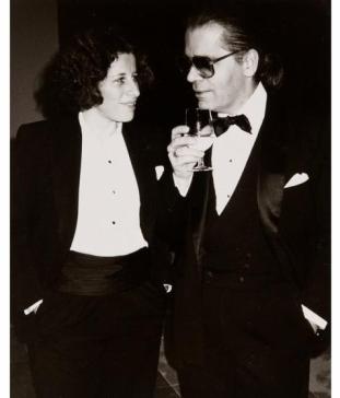 Fran Lebowitz y Karl Lagerfeld