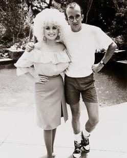 Andy Warhol. Dolly Parton y Keith Haring