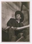 """Fotógrafo no identificado. Diego Rivera pinta """"La danza de los Huichilobos"""" (1936)"""