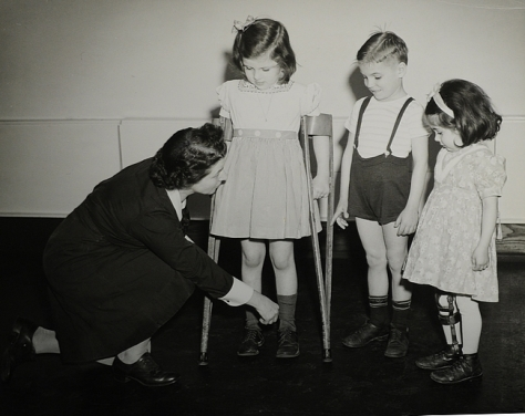 In this 1941 photo children with polio are fitted for braces. Photo taken by Gretchen Goughnour, provided by the York County Heritage Trust. DAILY RECORD/SUNDAY NEWS - SUBMITTED