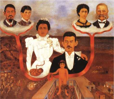 My Grandparents My Parents and Me, 1936 by Frida Kahlo