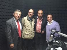 José Luis Ortiz, Óscar Colorado, Ulises Castellanos y César Vera
